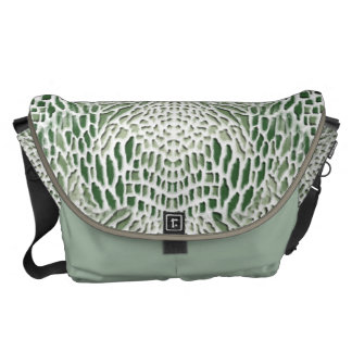 green Snake Courier Bag