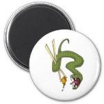Green Snake Fridge Magnets