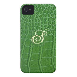 Green Snake Leather Case Mate Blackberry