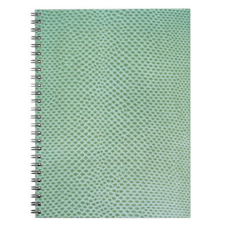 Green snake, lizard or reptile skin (faux leather) spiral notebook