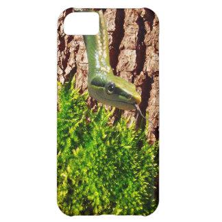 Green Snake on Tree Bark Reptile Wildlife Design Cover For iPhone 5C