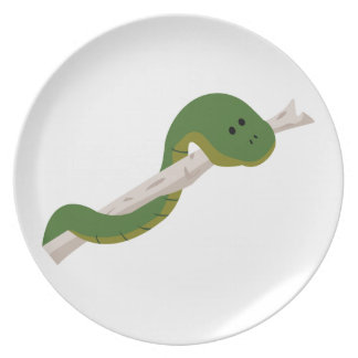 Green Snake Party Plate