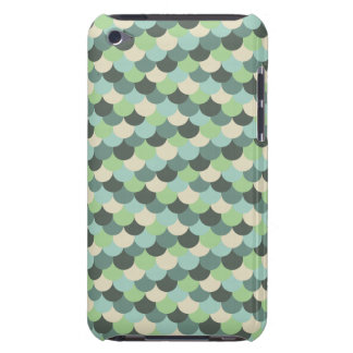 Green Snake Scales Vector Art iPod Case-Mate Case