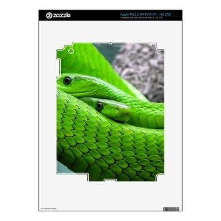 Green Snake Skin For iPad 3