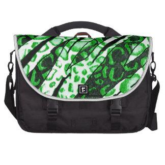 Green Snake Skin Camo Laptop Computer Bag