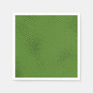 Green Snake Skin Texture Napkin