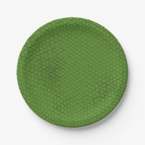 Green Snake Skin Texture Paper Plate