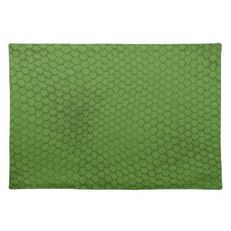 Green Snake Skin Texture Placemat