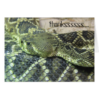 Green Snake Thank You notes, personalize text Card