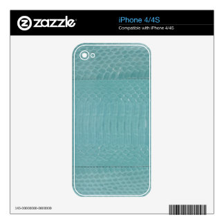 Green snake to leather decals for iPhone 4S