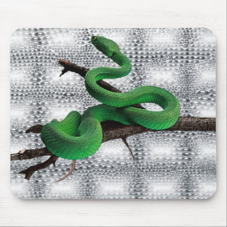 GREEN SNAKES MOUSE PAD