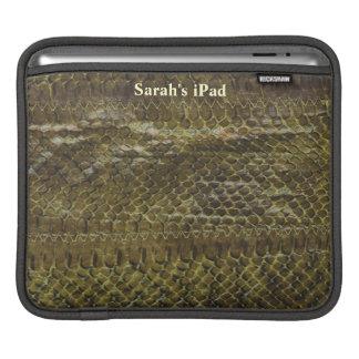 Green Snakeskin iPad Sleeve