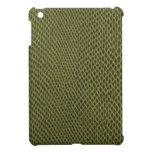 green snakeskin print iPad mini cover