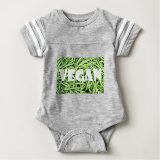 Green Snap Beans Vegan Organic and Fresh Baby Bodysuit