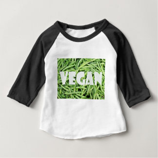 Green Snap Beans Vegan Organic and Fresh Baby T-Shirt