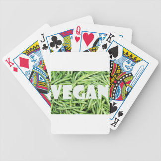 Green Snap Beans Vegan Organic and Fresh Bicycle Playing Cards