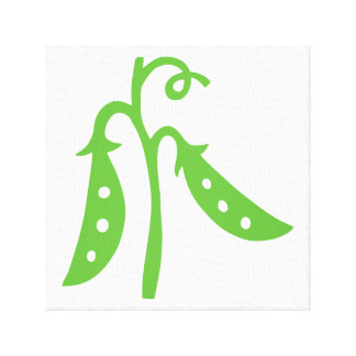 Green snap peas kitchen art stretched canvas