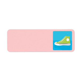 Green Sneaker Return Address Label