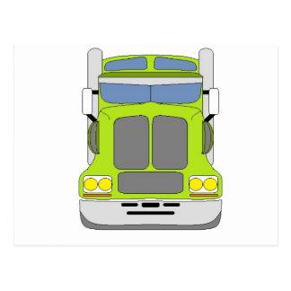 green snot truck postcard