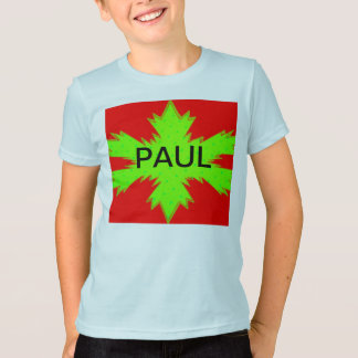 Green Snow Flake Youth T-Shirt