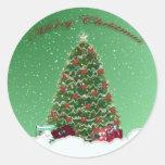 Green Snow Globe Sticker