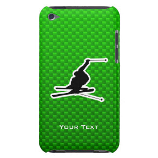Green Snow Skiing iPod Touch Case-Mate Case