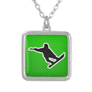 Green Snowboarding Jewelry
