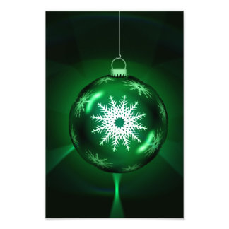 Green snowflake Christmas bauble Photo