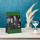 green snowflake pattern photoframe display plaque