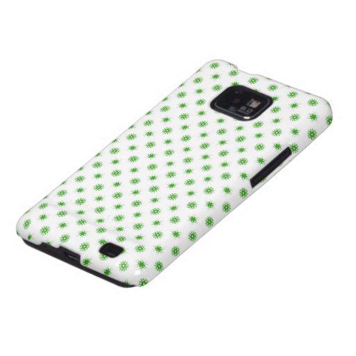 Green Snowflake Pattern Samsung Galaxy SII Cases