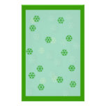 Green Snowflake Winter Stationary Stationery Paper