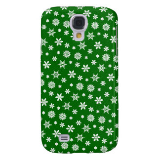 Green Snowflakes Pattern iPhone 3G/3GS Case
