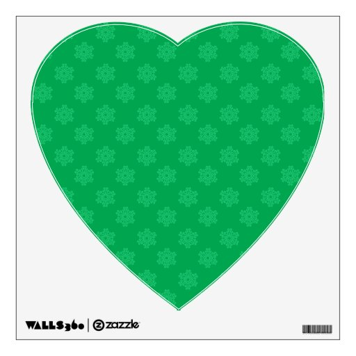 Green snowflakes pattern wall decal