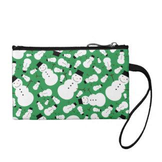 Green snowmen coin purses