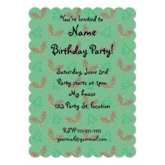 Green snowshoe pattern 5x7 paper invitation card