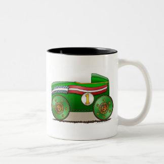 Green Soap Box Car Mugs