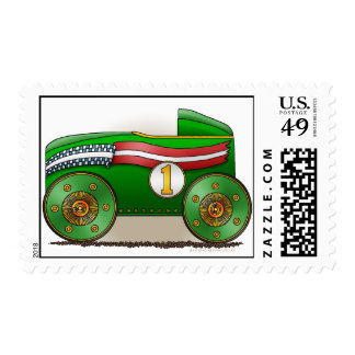 Green Soap Box Car Stamps