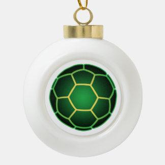 Green soccer ball ceramic ball christmas ornament
