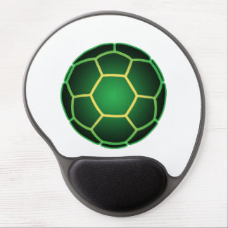 Green soccer ball gel mouse pad