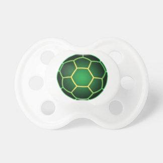 Green soccer ball pacifier