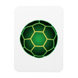 Green soccer ball flexible magnet