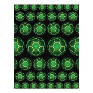 Green soccer balls flyer
