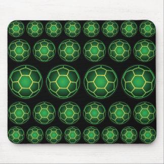 Green soccer balls mouse pad