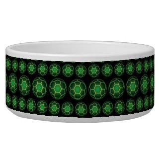 Green soccer balls dog water bowl