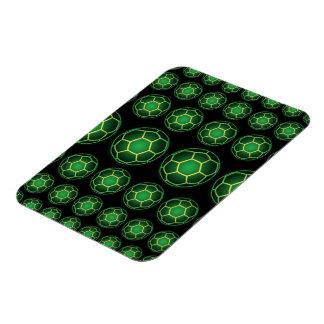 Green soccer balls flexible magnet