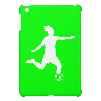 Green Soccer Silhouette iPad Mini Case