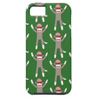 Green Sock Monkey Print iPhone 5 Case