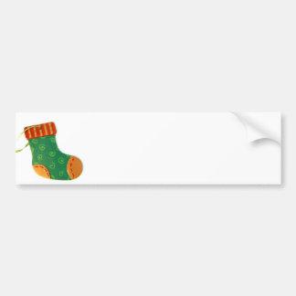 Green Sock Ornament Bumper Sticker