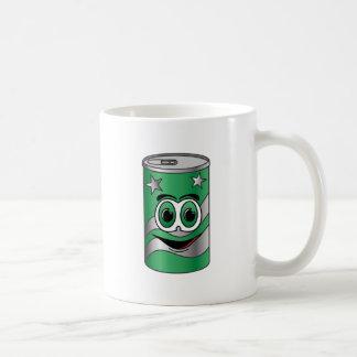 Green Soda Can Cartoon Mugs