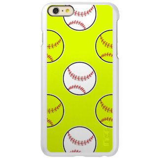 Green Softball Pattern Incipio Feather® Shine iPhone 6 Plus Case